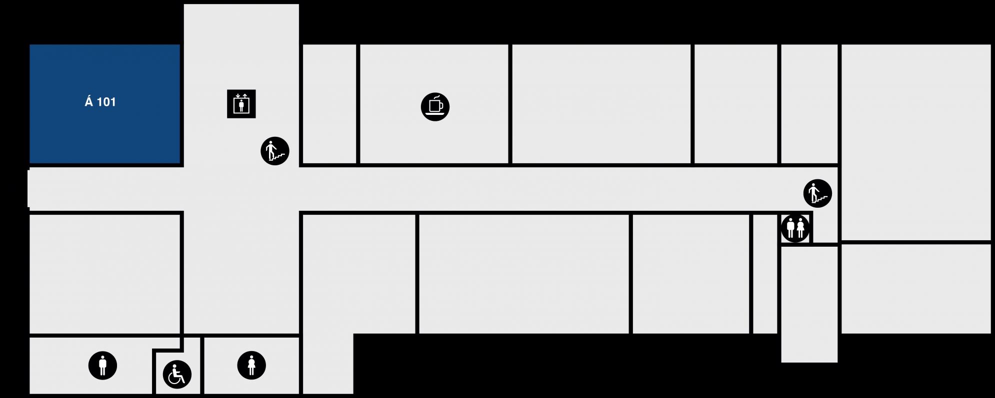 Yfirlitsmynd af Árnagarði: 1. hæð