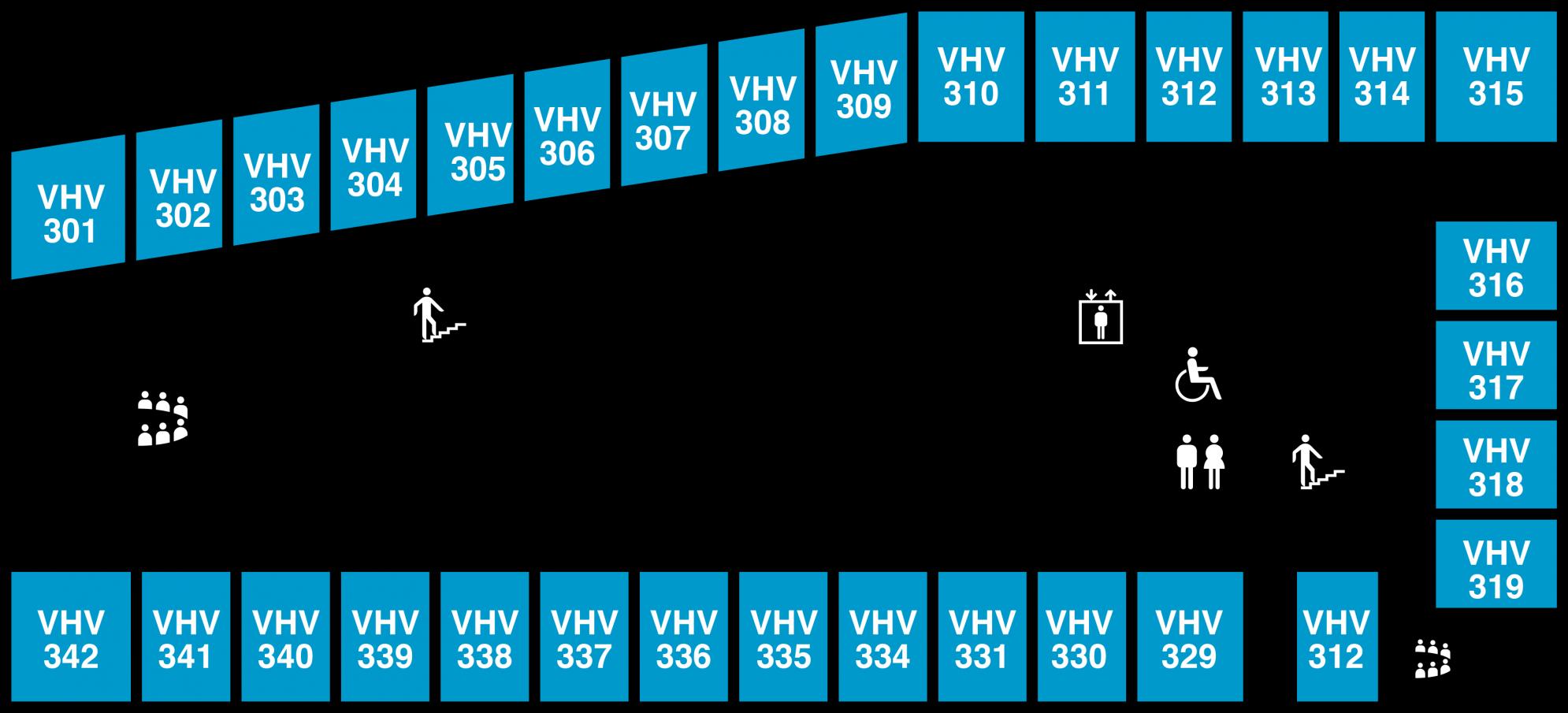 Yfirlitsmynd af Veröld, húsi Vigdísar: 3. hæð