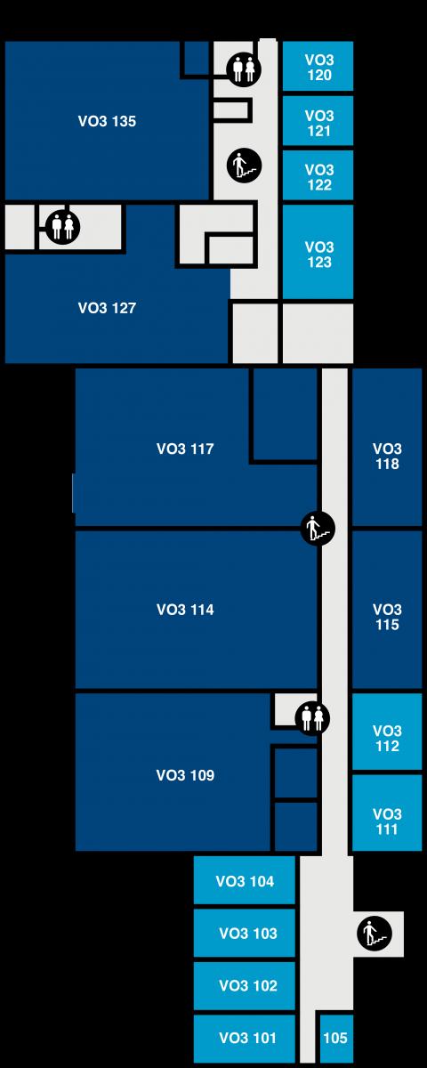 Yfirlitsmynd af VR-III: 1. hæð