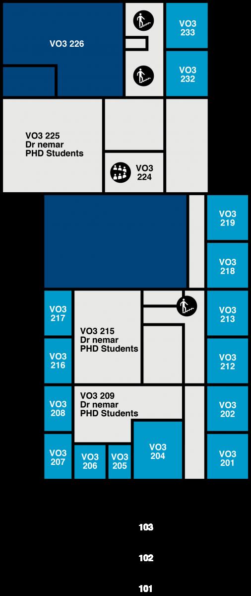 Yfirlitsmynd af VR-III: 2. hæð