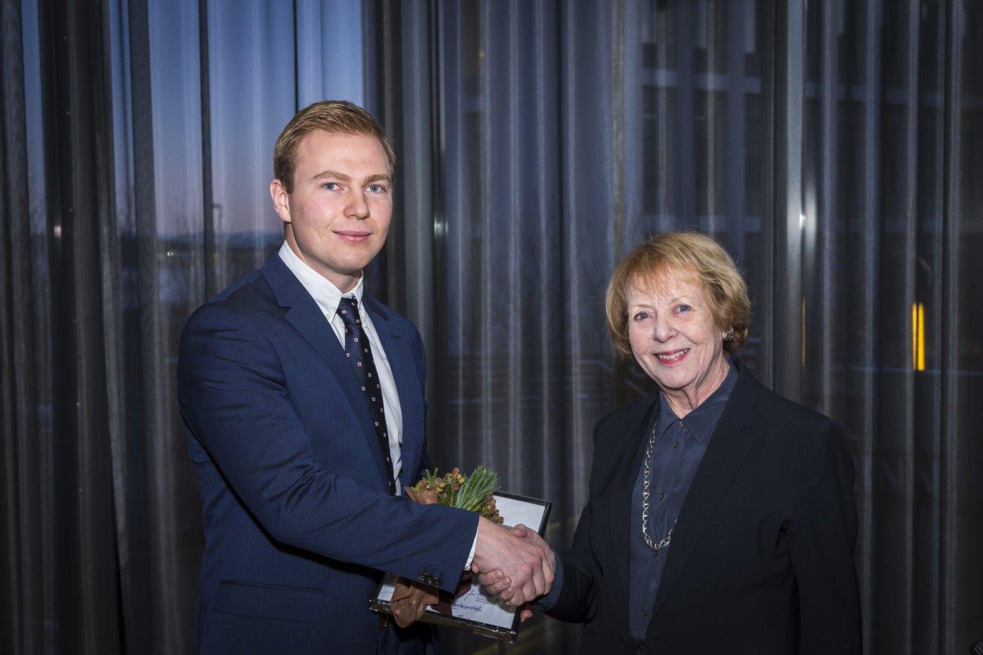 Sigurður Egilsson og Vigdís Finnbogadóttir