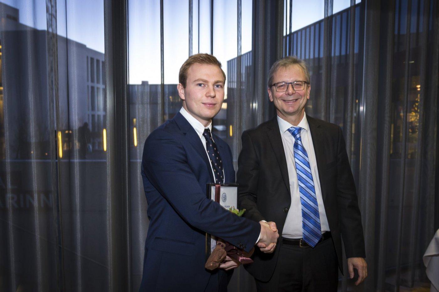 Sigurður Egilsson og Jón Atli Benediktsson, rektor Háskóla Íslands