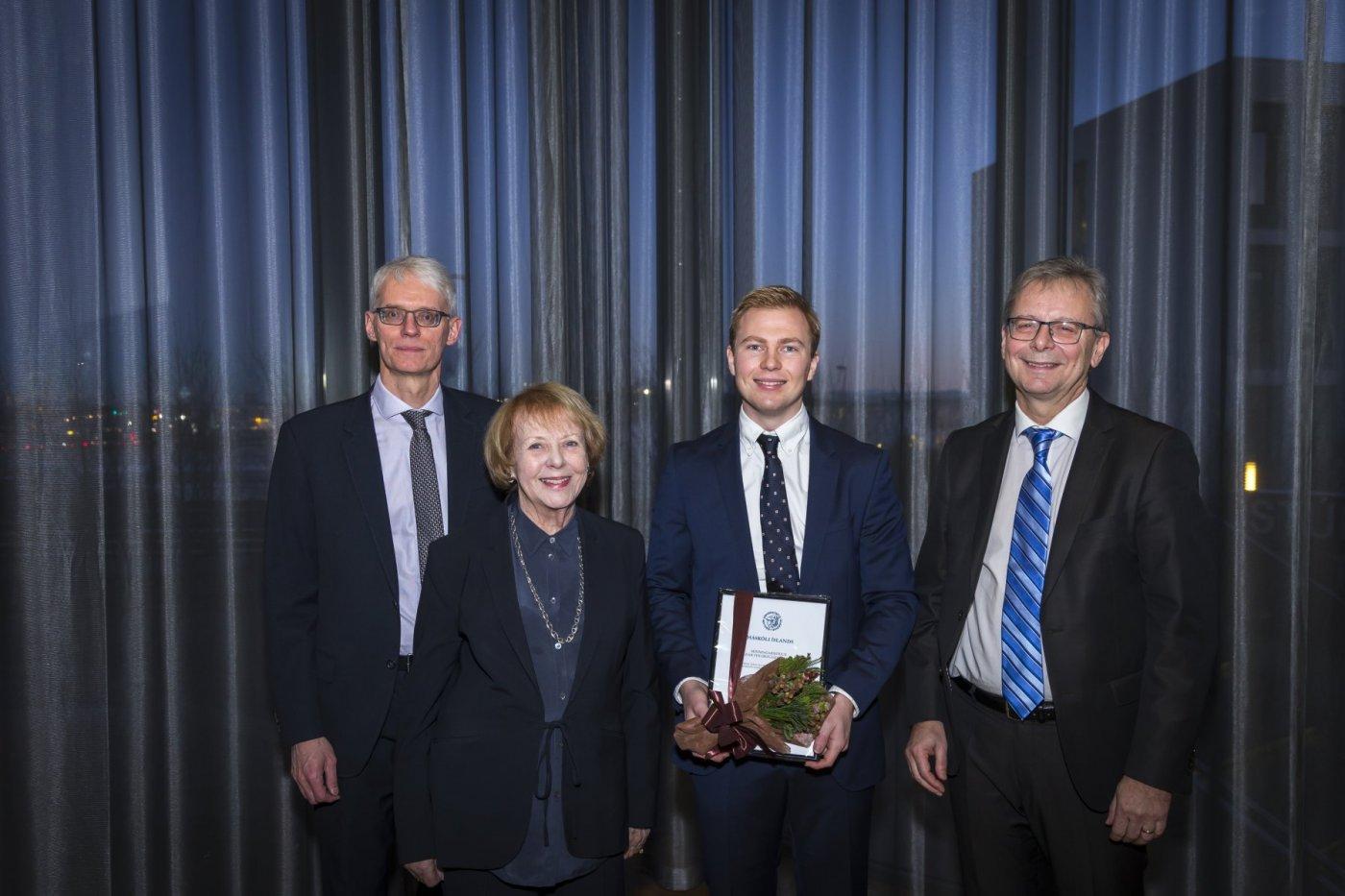 Sigurður Magnús Garðarsson, Vigdís Finnbogadóttir, Sigurður Egilsson og Jón Atli Benediktsson