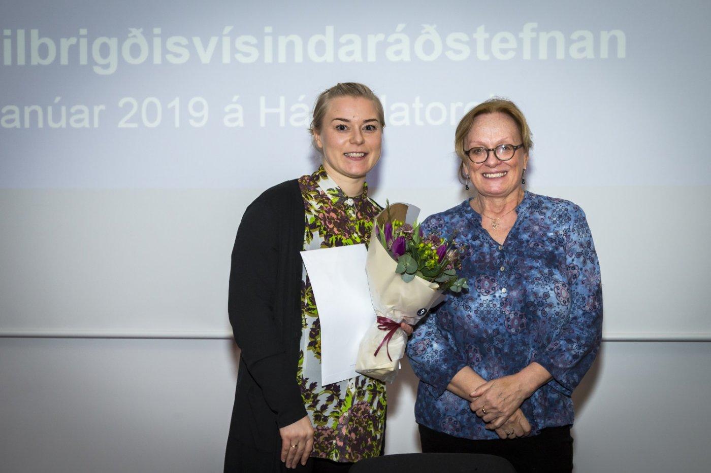 Þórhildur Halldórsdóttir og Inga Þórsdóttir, forseti Heilbrigðisvísindasviðs Háskóla Íslands