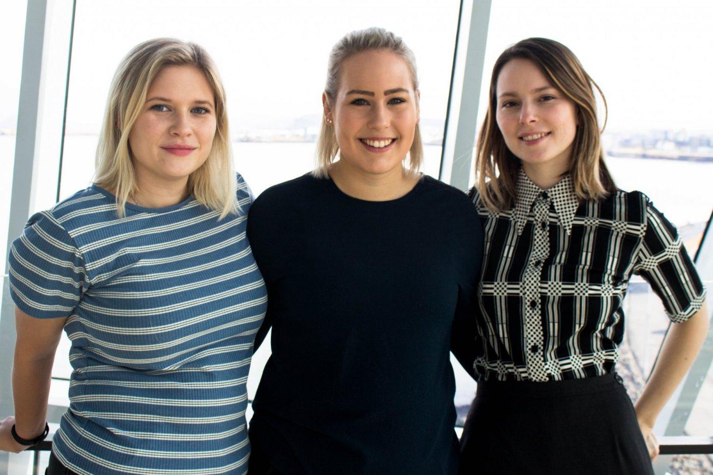 Fríða Snædís Jóhannesdóttir, Kristjana Björk Barðdal og Sara Björk Másdóttir