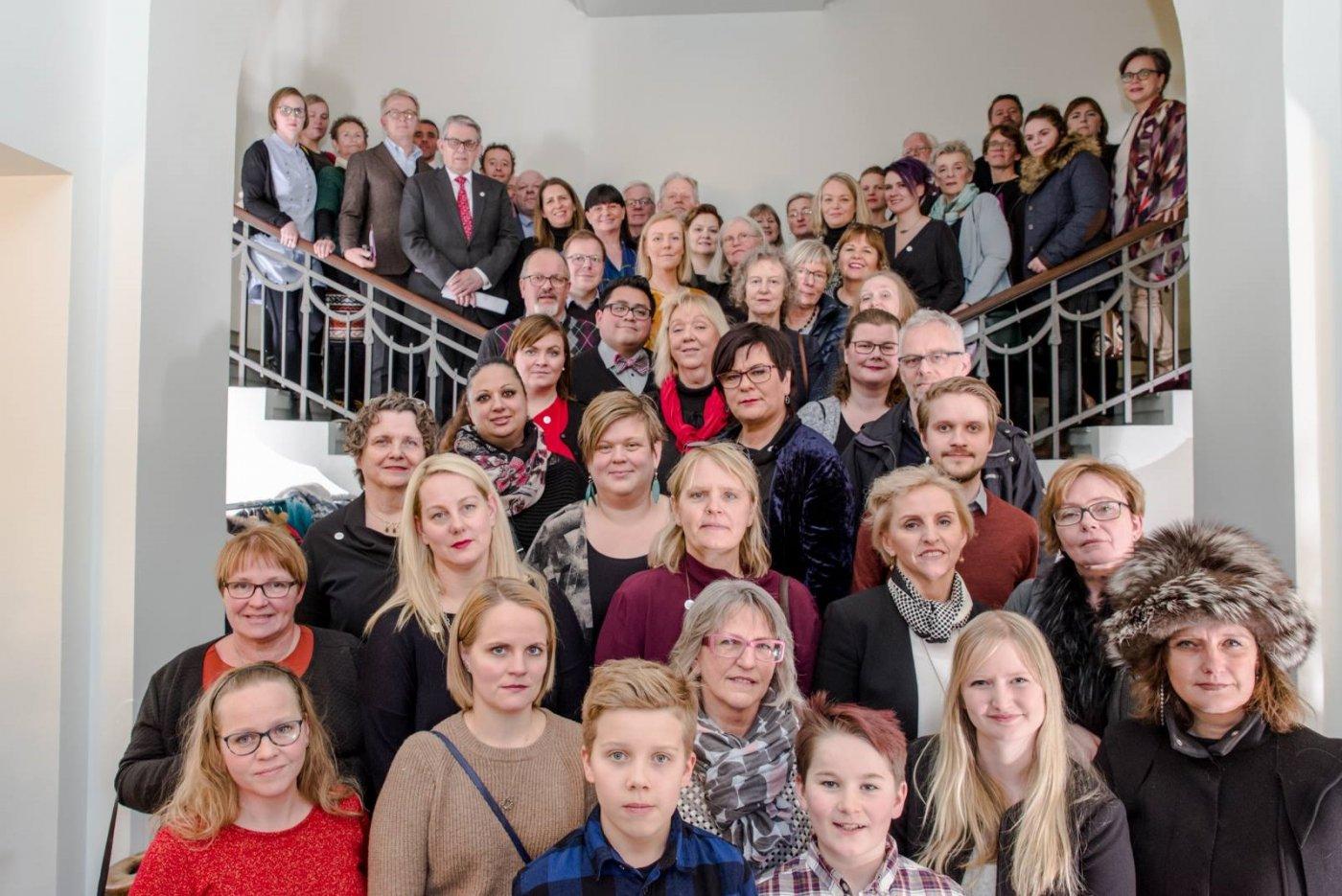 Verkefnin 100 á dagskrá aldarafmælis fullveldis Íslands voru kynnt í Safnahúsinu við Hverfisgötu á dögunum og þangað mættu fulltrúar verkefnanna.
