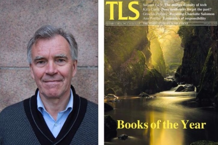 Gísli Pálsson og kápa Times Literary Supplement