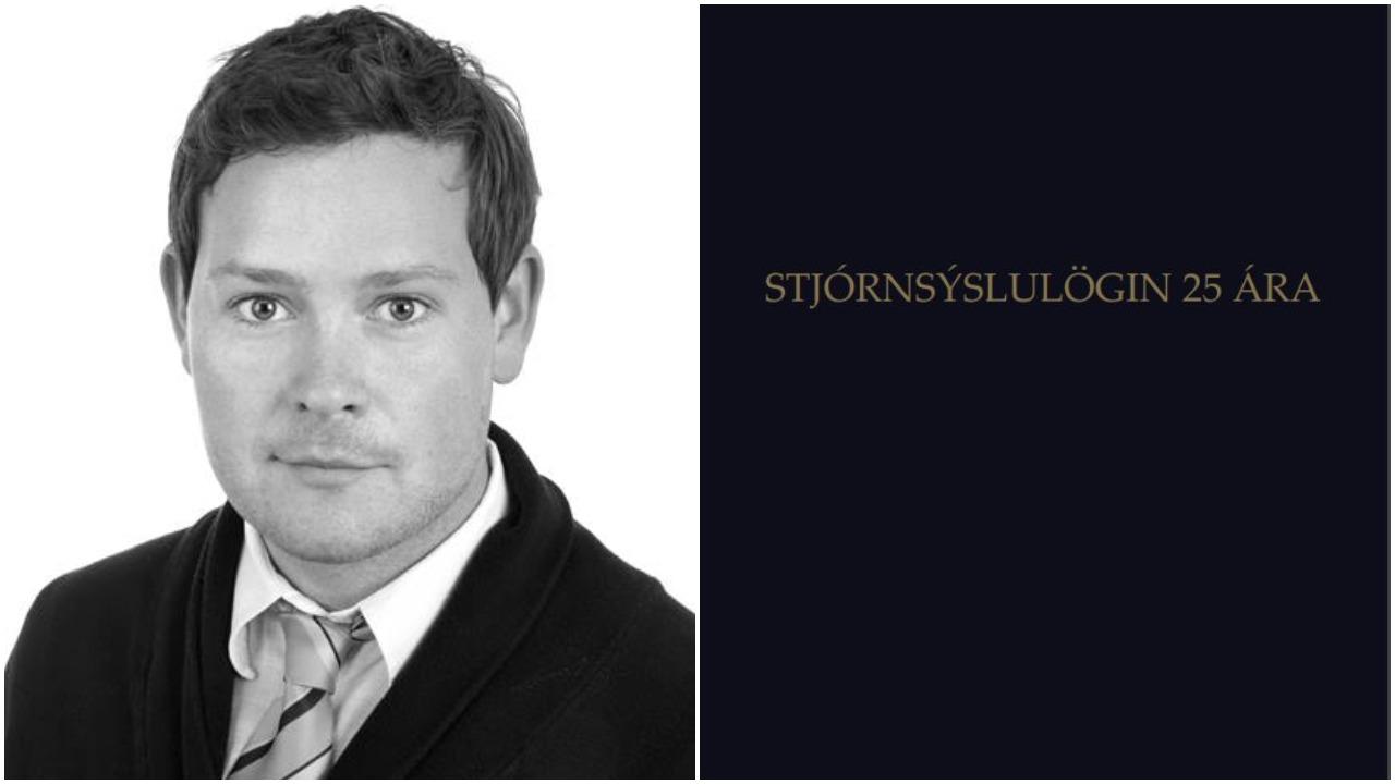 Hafsteinn Dan Kristjánsson og kápa bókarinnar