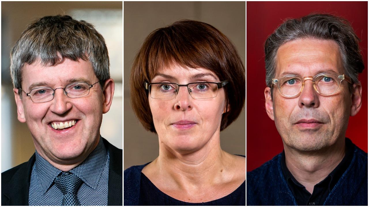 Ólafur Pétur Pálsson, Ingibjörg Gunnarsdóttir og Jón Ólafsson