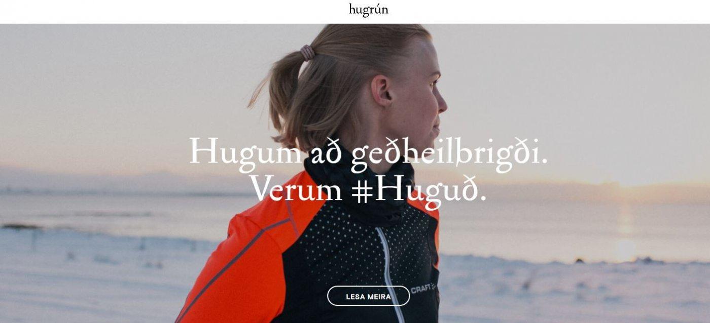 Skjáskot af heimasíðu Hugrúnar