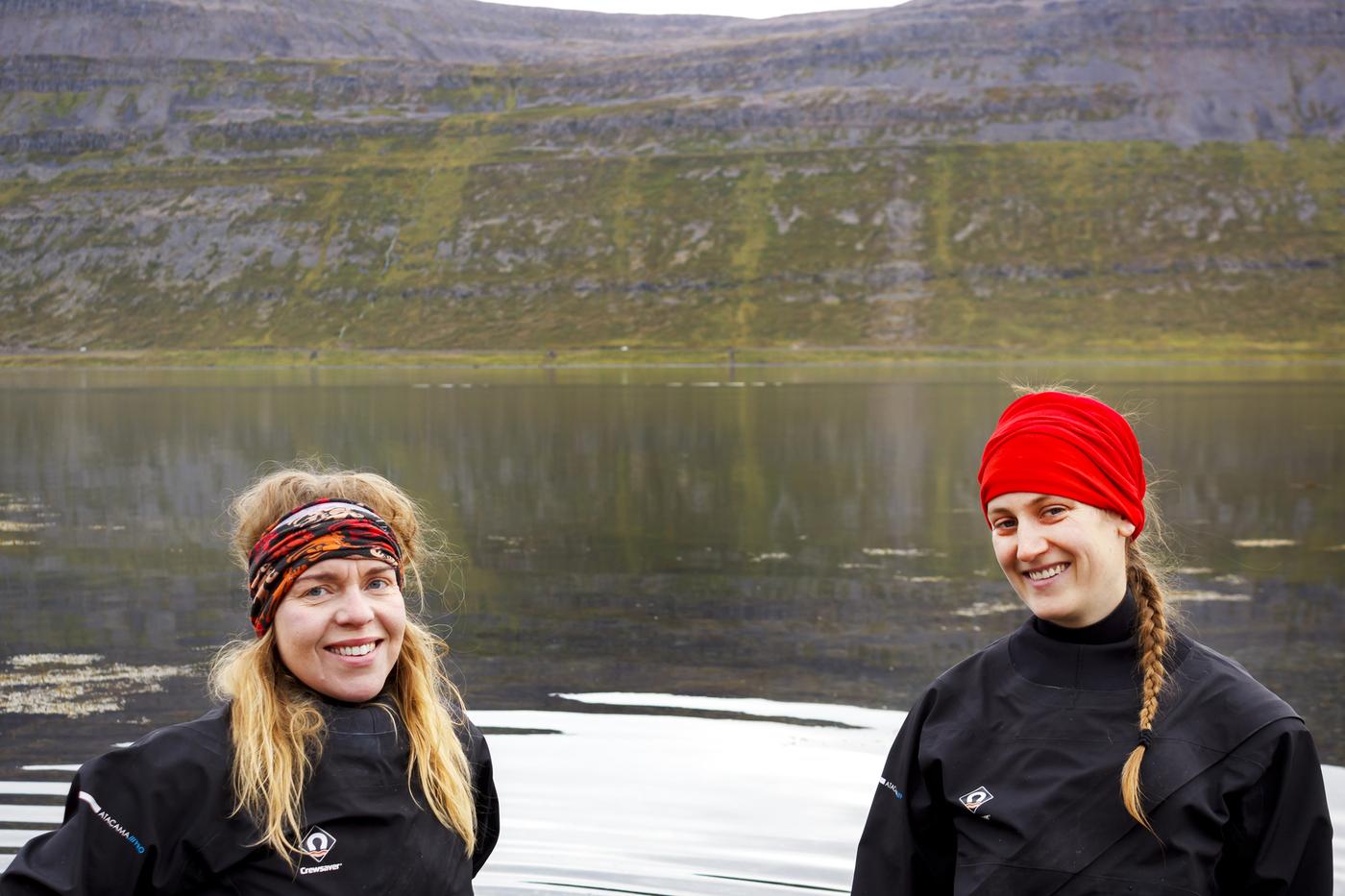 Guðbjörg Ásta Ólafsdóttir og Michelle Valiant í Álftafirði