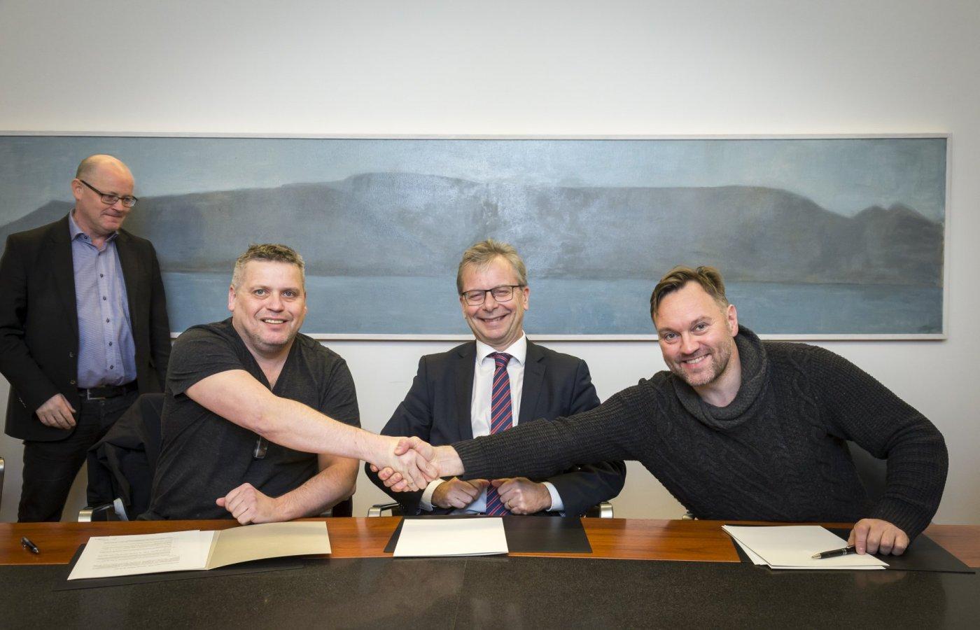 Þórarinn Guðjónsson, Jón Atli Benediktsson og Karl Ægir Karlsson