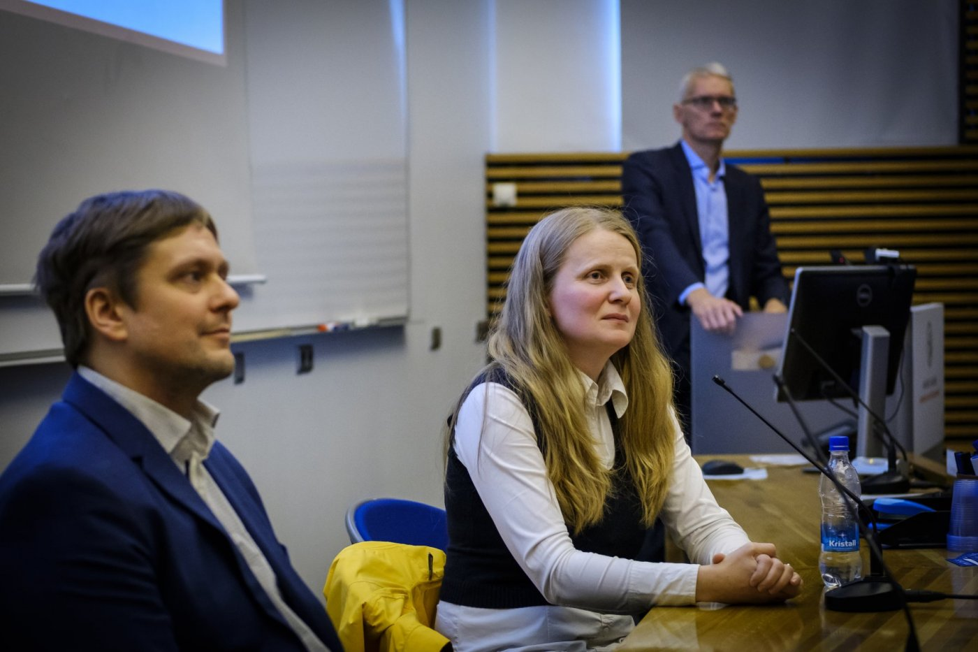 Þröstur, Hrund og Sigurður Magnús Garðarsson, forseti Verkfræði- og náttúruvísindasviðs