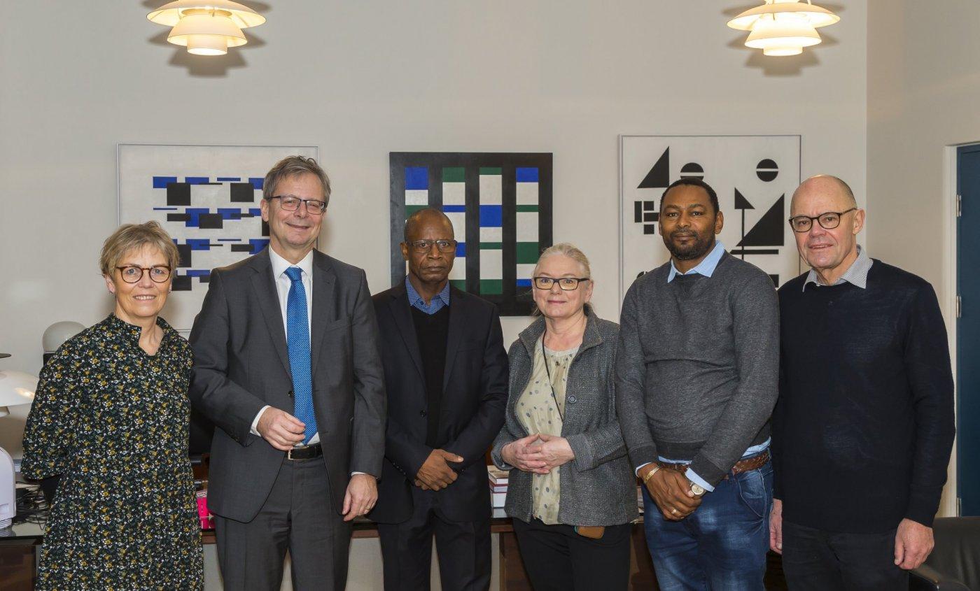 Frá heimsókn Aladje Baldé, rektors Jean Piaget háskólans í Bissá