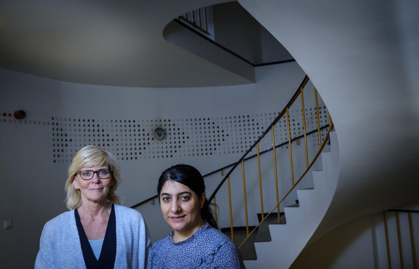 Hanna Ragnarsdóttir, prófessor í fjölmenningarfræðum við Menntavísindasvið, og Susan Rafik Hama, doktorsnemi á sama sviði,