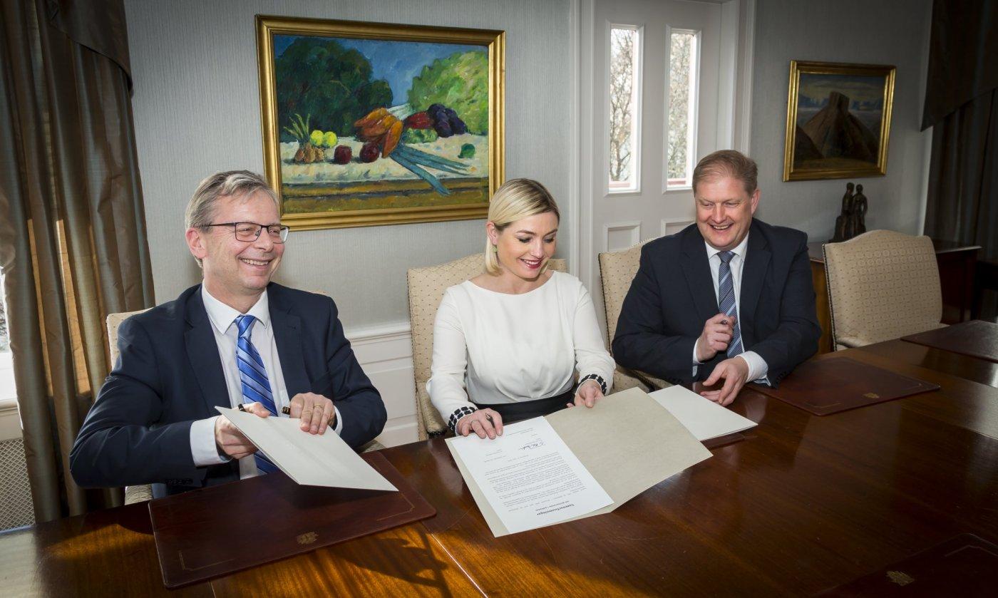 Jón Atli Benediktsson, Lilja Alfreðsdóttir og Ari Kristinn Jónsson