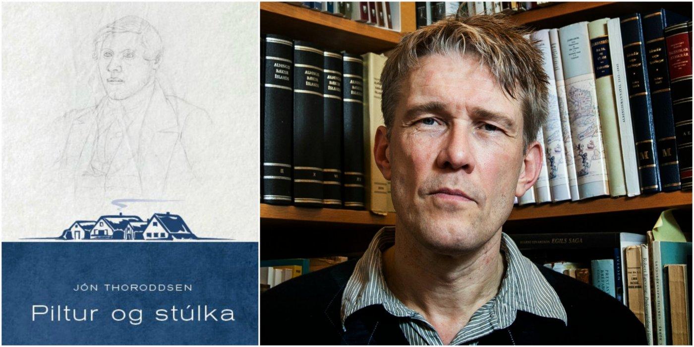 Kápa Pilts og stúlku í endurprentaðri útgáfu og Már Jónsson prófessor.