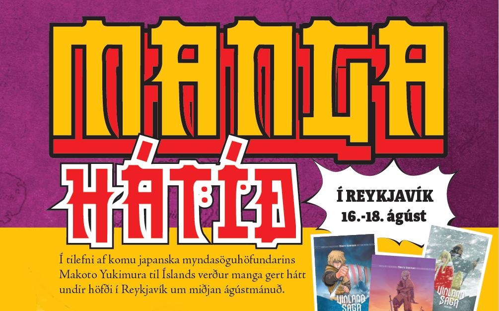 Auglýsing fyrir Manga-hátíð í Reykjavík