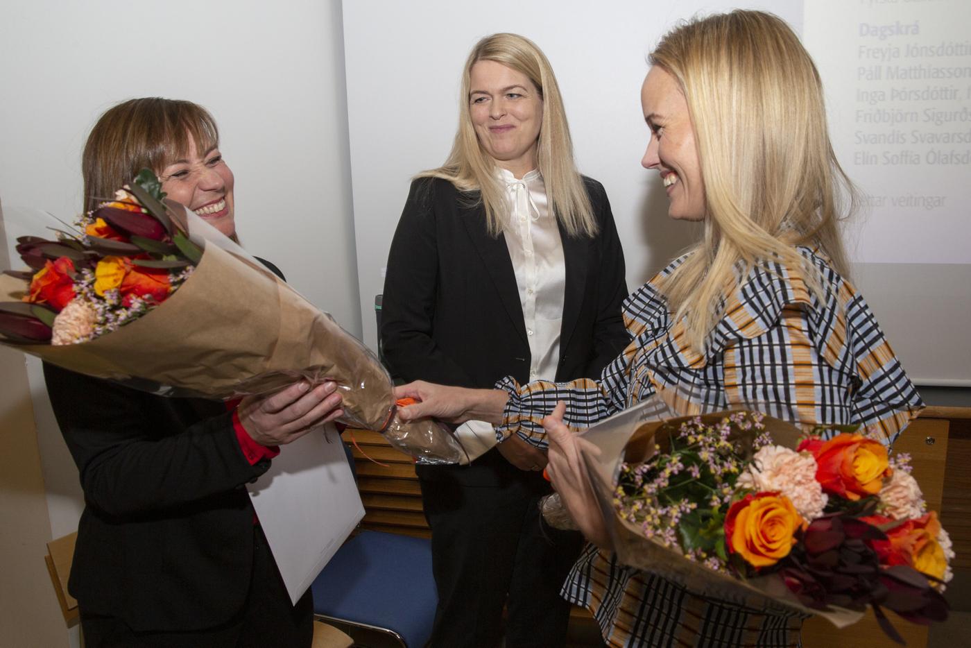 Freyja Jónsdóttir, María Jóhannsdóttir, Helga Kristinsdóttir, Lyfjafræðideild, Háskóli Íslands