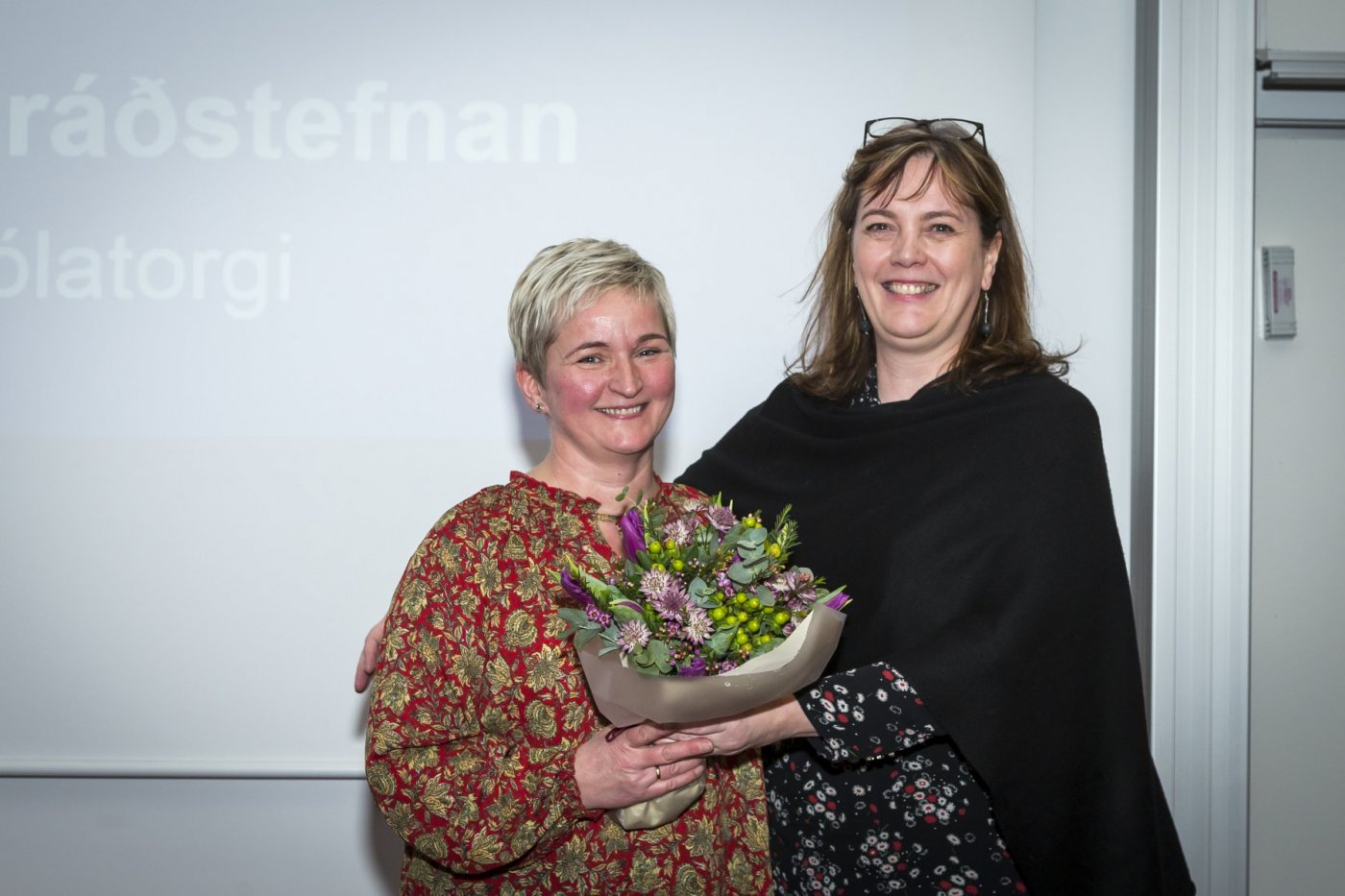 Priyanka Sahariah, nýdoktor við Lyfjafræðideild og Kristín Ólafsdóttir, dósent við Læknadeild.