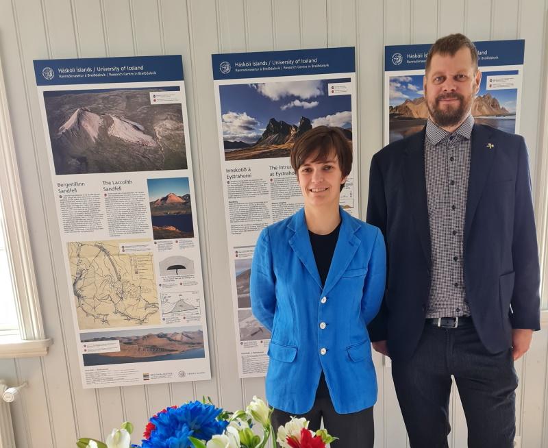 María Helga Guðmundsdóttir og Tobias Björn Weisenberger á við opnun rannsóknaseturs HÍ á Breiðdalsvík. MYND: Unnur Birna Karlsdóttir