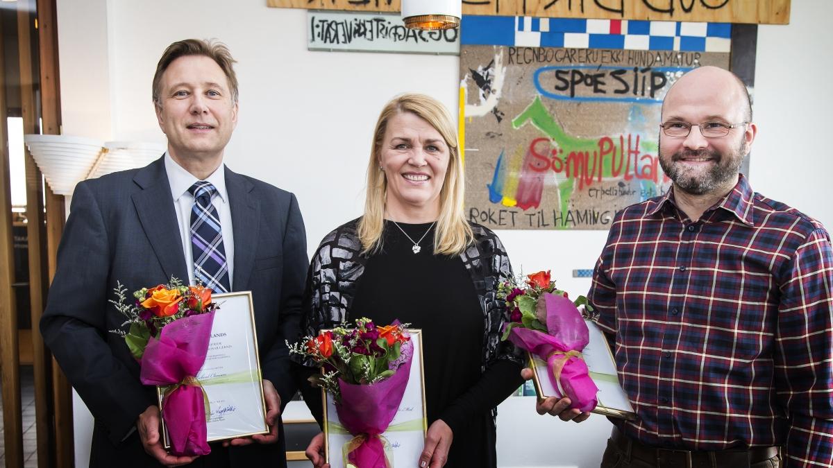 Michael Clausen, Sigurveig Þóra Sigurðardóttir og Tryggvi Helgason.
