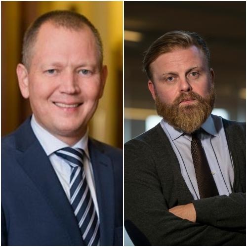 Hersir Sigurgeirsson og Ásgeir Jónsson höfundar bókarinnar