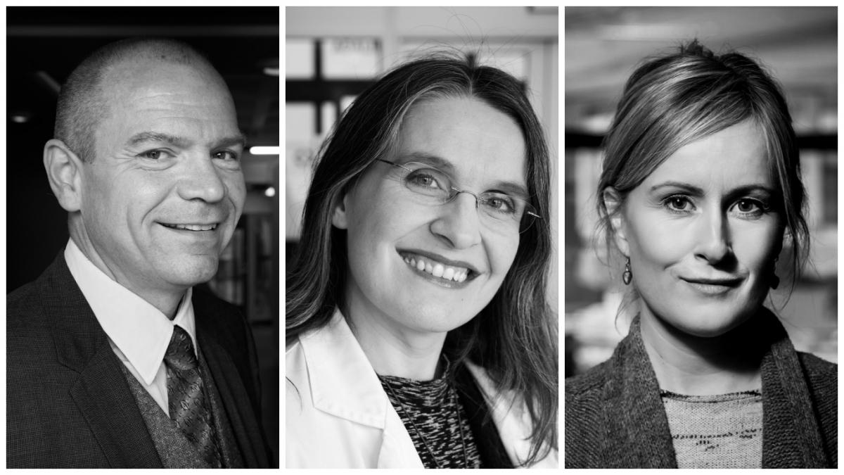 Björn Rúnar Lúðvíksson, Berglind Hálfdánsdóttir og Unnur Anna Valdimarsdóttir