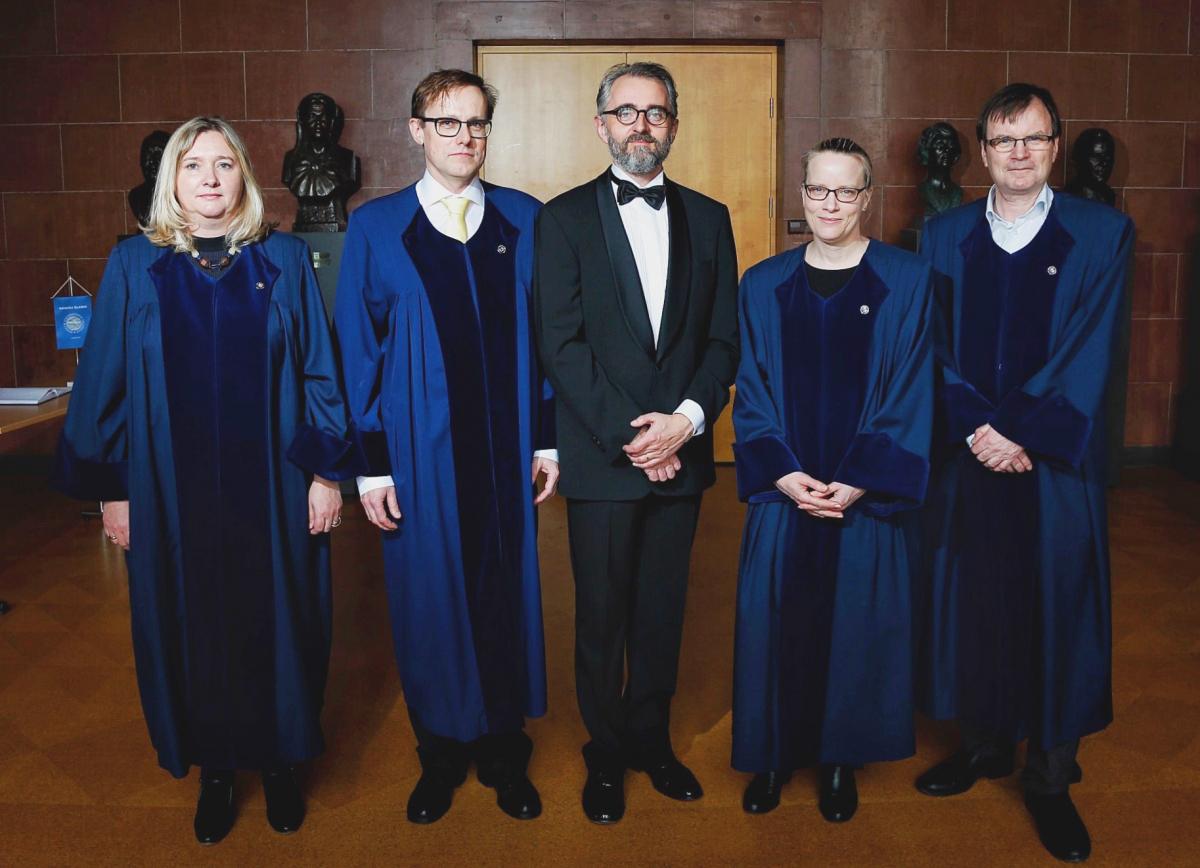 Gunnþórunn Guðmundsdóttir, Ólafur Rastrick, Magnús Þór Þorbergsson, Joanna Robinson og Guðmundur Hálfdanarson.