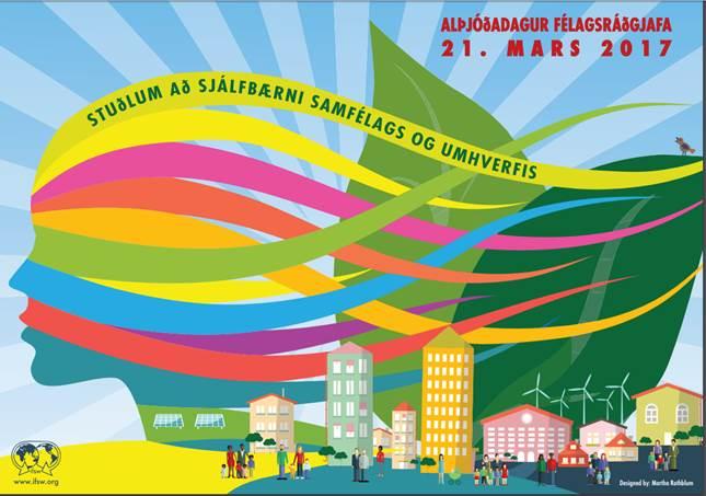 Alþjóðadagur félagsráðgjafa plakat