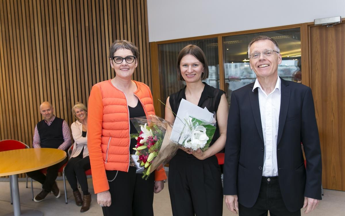 Jóhanna Einarsdóttir, Tanya Helgason og Sigurður Konráðsson