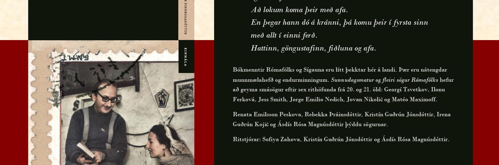 Alþjóðadegi rómískunnar fagnað með útgáfu smásagnasafns - á vefsíðu Háskóla Íslands