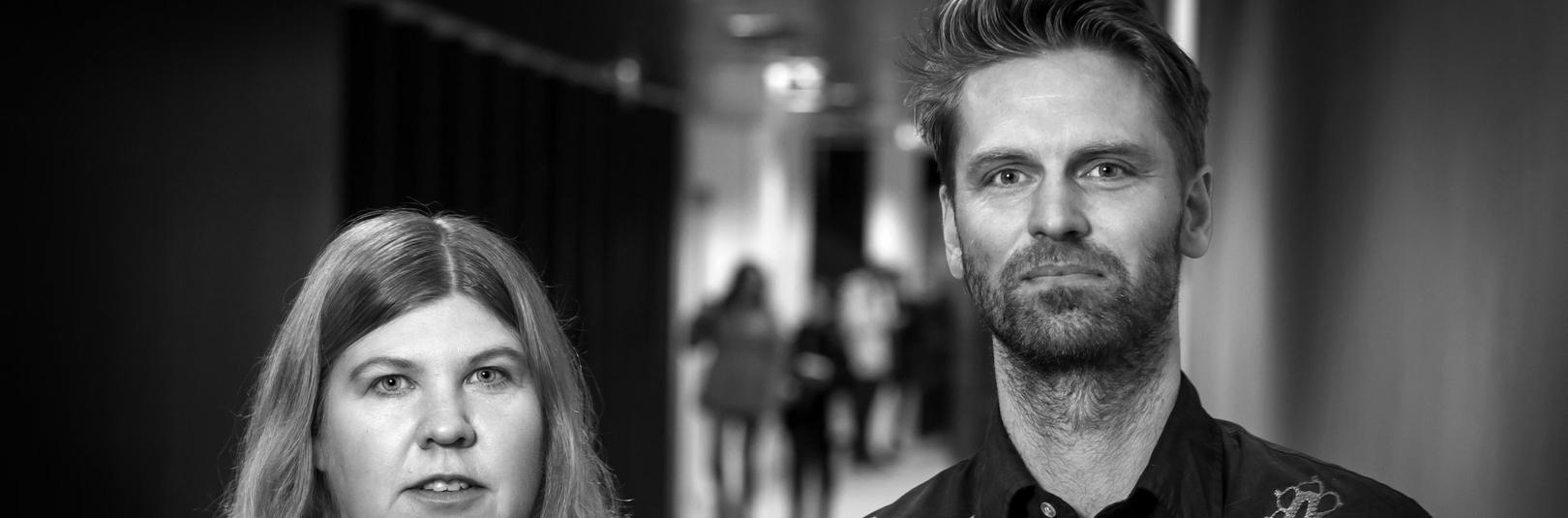 Sigrún Ólafsdóttir prófessor og Kjartan Páll Sveinsson nýdoktor.