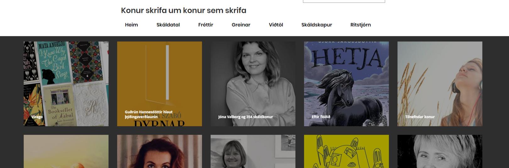 Soffía Auður hlýtur styrk vegna vefs um íslenskar skáldkonur - á vefsíðu Háskóla Íslands