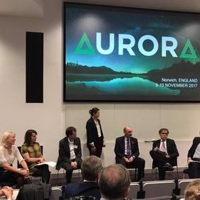 Frá umræðufundi Aurora-samstarfsnetsins um stöðu hug- og félagsvísinda.