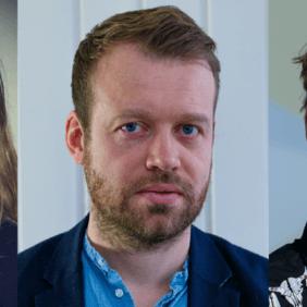 Ingibjörg Dögg Kjartansdóttur, ritsjóri Stundarinnar, og Þórður Snær Júlíusson, ritstjóri Kjarnans og Kjartan Sveinsson nýdoktor.