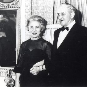 Jón Steffensen og kona hans Kristín Björnsdóttir Steffensen