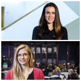 Tinna Laufey Ásgeirsdóttir og Þórhildur Ólafsdóttir