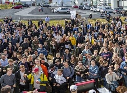 Nýnemar verkfræði og náttúruvísindasvið hópmynd