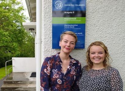 Brynja Huld Óskarsdóttir og Álfrún Perla Baldursdóttir