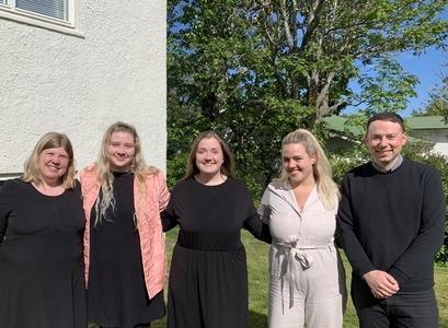 Frá vinstri: Sigrún Ólafsdóttir, Gréta Jónsdóttir, Jónína Riedel, Adda Guðrún Gylfadóttir og Jón Gunnar Ólafsson.