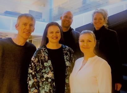 Anna Guðrún Ahlbrecht, Berglind Ósk Birgisdóttir, Davíð Örn Benediktsson, Jón Pétur Einarsson og Þórdís Arnardóttir