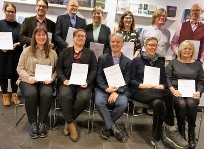 Höfundar þeirra tíu bóka sem tilnefndar eru til Viðurkenningar Hagþenkis 2018