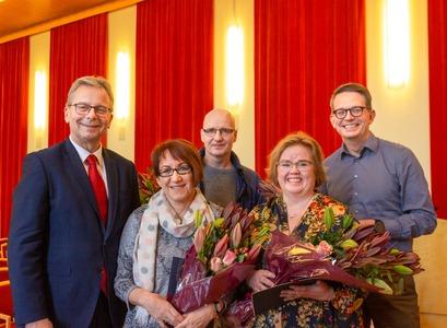 Jón Atli Benediktsson, Rannveig Traustadóttir, Hjalti Már Stefánsson, Silja Bára Ómarsdóttir og Thor Aspelund.