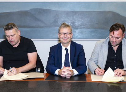 Frá vinstri: Þórarinn Guðjónsson, Jón Atli Benediktsson og Karl Ægir Karlsson