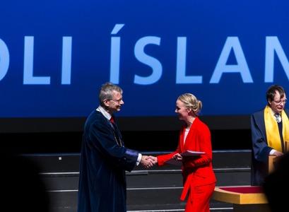 Frá brautskráningu Háskóla Íslands