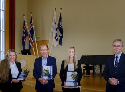 María Sigurðardóttir, Halldór Jónsson jr., Lotta María Ellingsen og Jón Atli Benediktsson