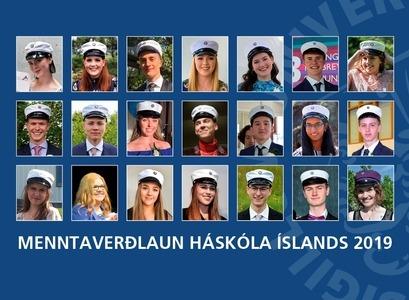 Handhafar Menntaverðlauna Háskóla Íslands 2019.
