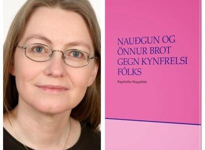 Ragnheiður Bragadóttir og kápa bókarinnar