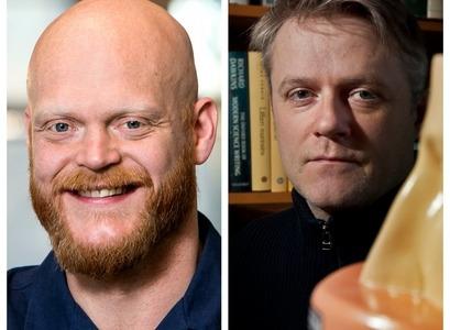 Rúnar Unnþórsson, prófessor í iðanaðarverkfræði, og Árni Kristjánsson, prófessor í sálfræði,